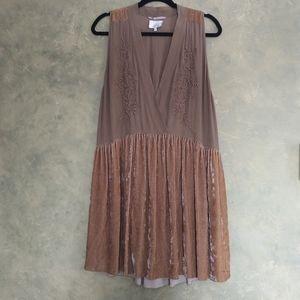 Aritzia Wilfred Le fou Silk and Velvet Dress